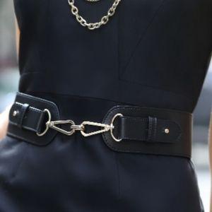 Ann Taylor Black Horsebit Waist Belt xs/small